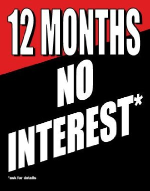 12 Months No Interest Standard Posters- Floor Stand Signs