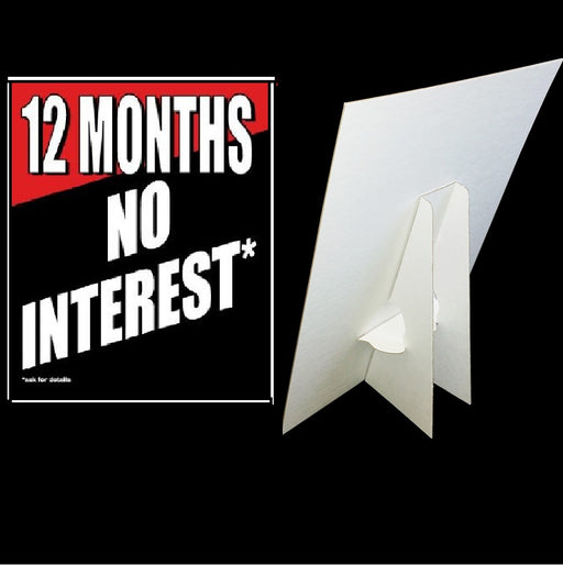 12 Months No Interest Easel Sign