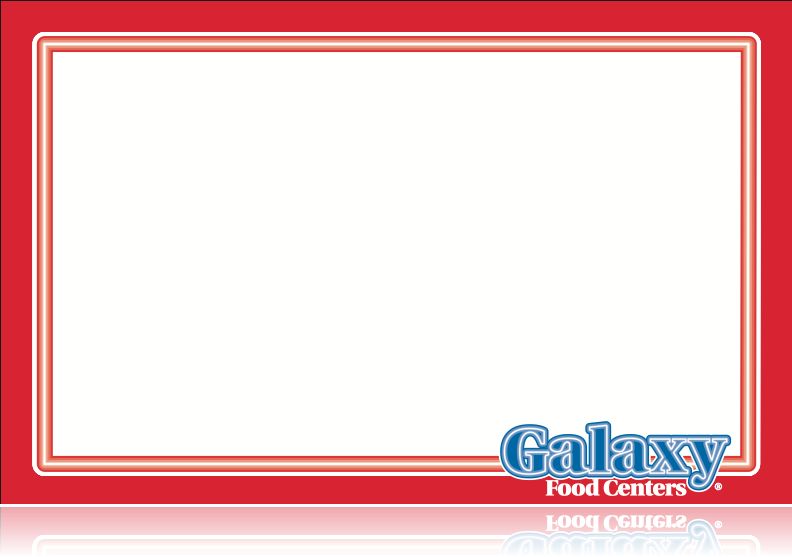 "Galaxy Supermarket Meat Laser Compatible Sign-11""w x 7""H -100 signs"