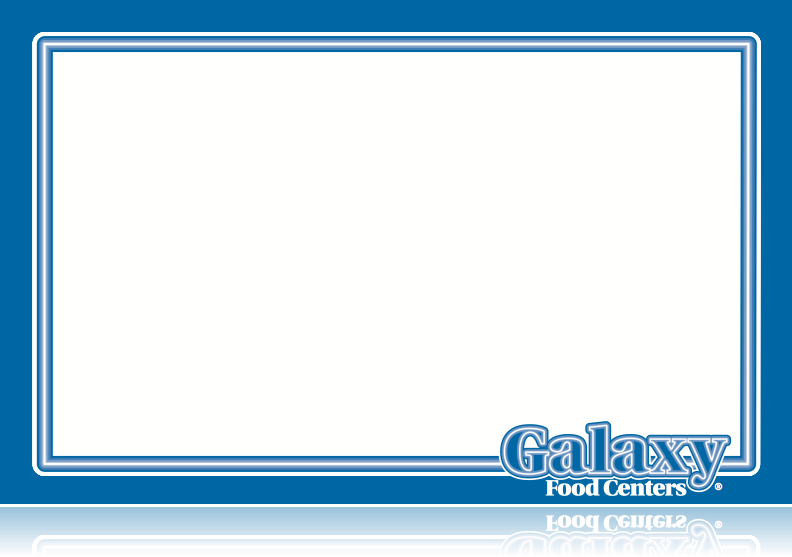 "Galaxy Food Centers Laser Compatible Shelf Signs-11""w x 7""H -100 price signs"