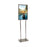 Floor Stand-Stanchion Sign Holder- Chrome-14 x 22