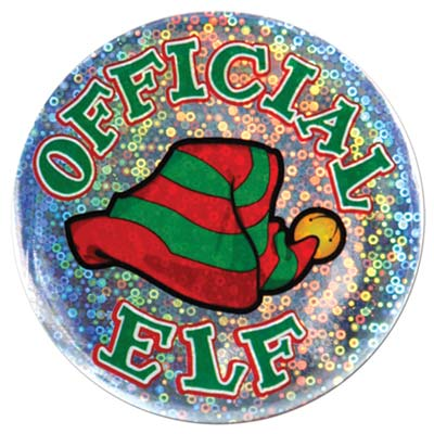 Christmas Employee Buttons