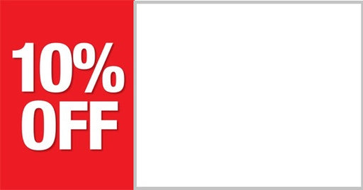 10% Off Shelf Sign Price Cards for retail stores