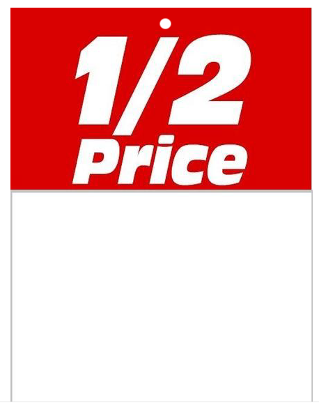 1/2 Price Sale Tags-Price Tags -100 tags