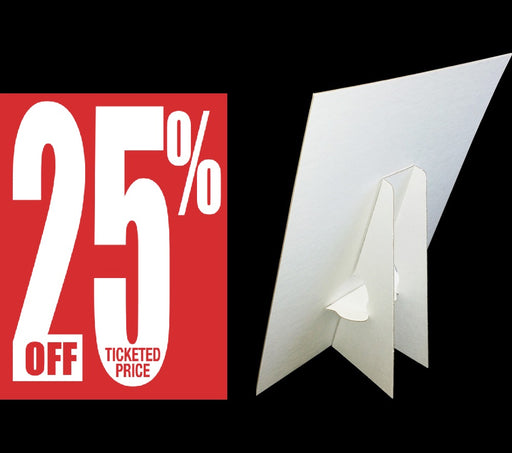25% Off Ticketed Price Countertop Easel Sign