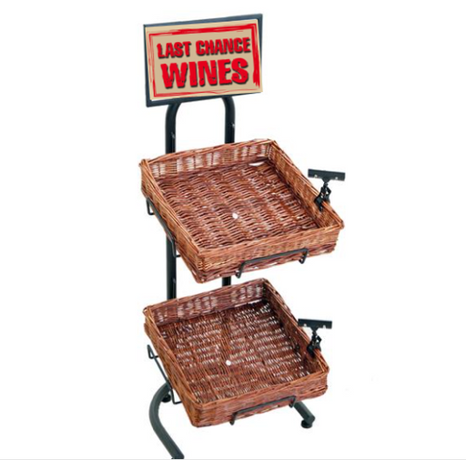2 Tier Wine Display Rack & Baskets