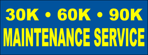 30K 60K 90K Car Maintenance Service Banner