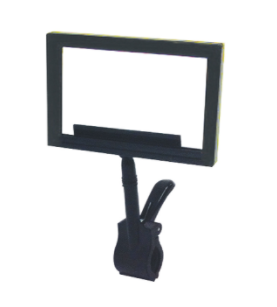 Black Plastic Sign Frames with Jumbo Spring Clip