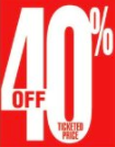 40% Off Shelf Sign Price Cards-50 pieces
