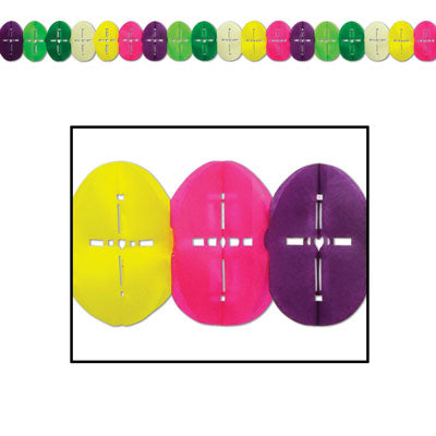Easter Egg Tissue Merchandising Garland-12 pieces