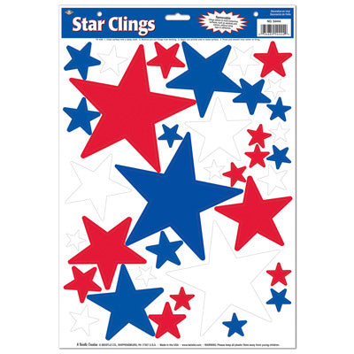 Patriotic Static Case-Window Clings-12 sheets per pack