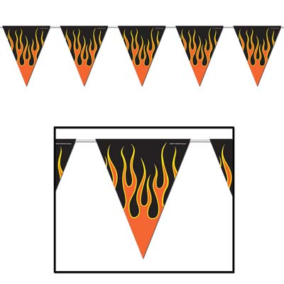 Hot Ones Pennant Banners -12 pieces