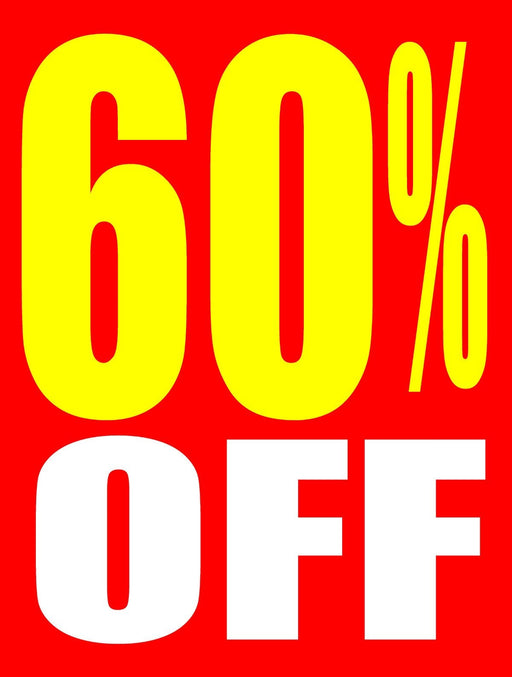 "60 % Off Window Signs Poster-36"" W x 48"" H"