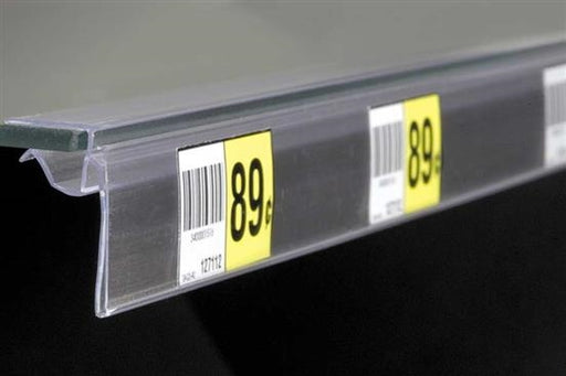 Price Tag- Label Holder for Glass Shelving-10 per pack
