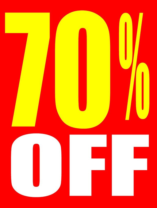 "70 % Off Window Signs Poster-36"" W x 48"" H"