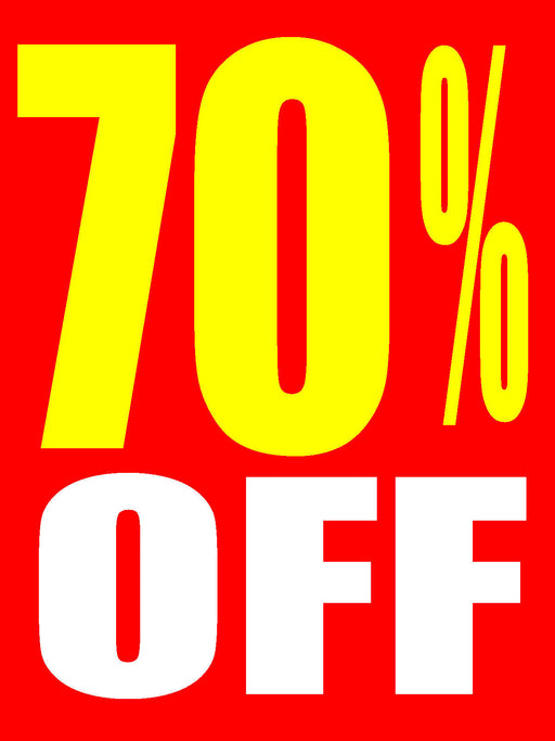 70% Off Shelf Sign-Price Cards-10 signs