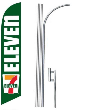 7 Eleven Logo Feather Flag Kit