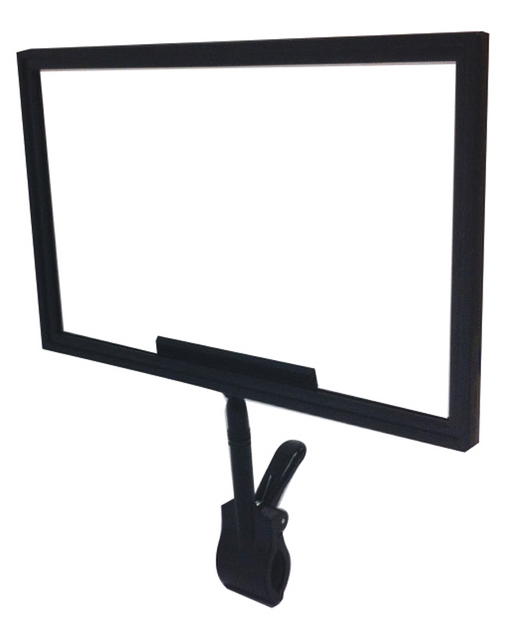 black plastic clip on sign frames- jumbo spring clip