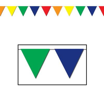 Multi-Color Pennant Flags-12 pieces