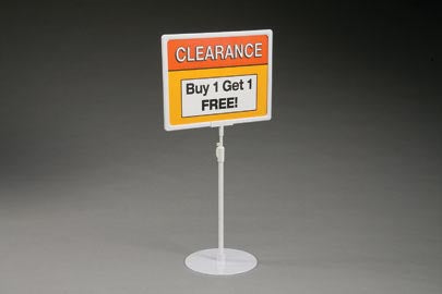 White Plastic Sign Frame-Telescopic