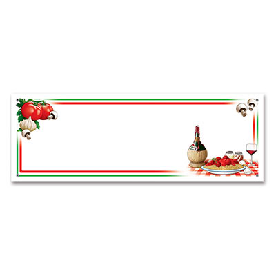 Italian Themed Banners-12 per pack