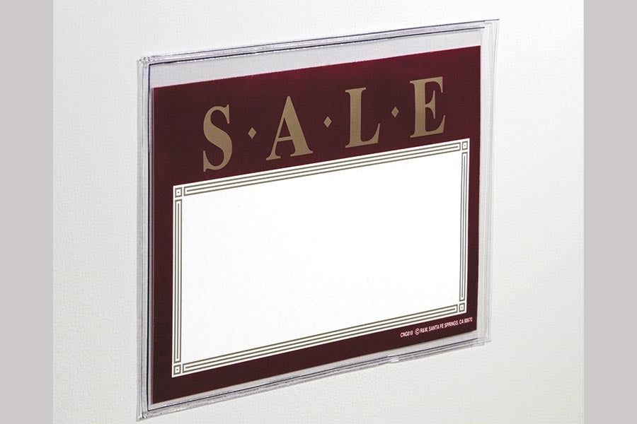 Vinyl Pouches Sign Holders with Adhesive-10 pieces