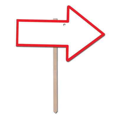 Red Directional Arrow Lawn Signs-6 pieces