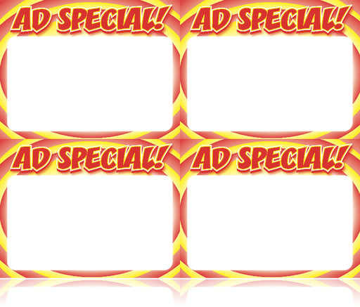 Ad Special Circle Shelf Signs Price Cards