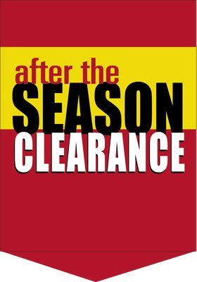 "After the Season Clearance Sale Event Pennants- 14"" W x 20"" H- 2 pieces"