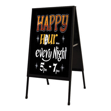 A Frame Sign Holder Frame- Black Metal