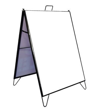 "A Frame Sign Holder Frame-Black Metal Sidewalk Frame-18"" x 24"""