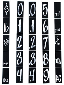 Accordion Pricing Strips Sign Sets-Price Sign Strips-5 sets of 5 strips - screengemsinc