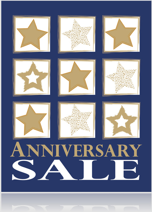 Anniversary Sale -Standard Posters-Floor Stand Stanchion Signs-4 pieces