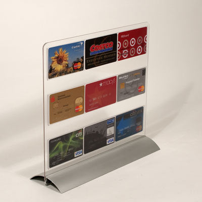 "Sign Holder -Counter Top-Aluminum Snap Base 8.5""W x 11""H"