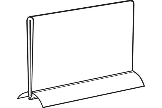 "Sign Holder -Counter Top-Aluminum Snap Base 11""W x 8.5""H"