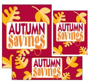 Autumn Retail Sale Event -Sign kit-20 pieces