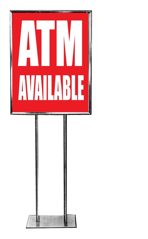ATM Available Standard Poster Floor Stand Sales Event Signs-22 W x 28 H