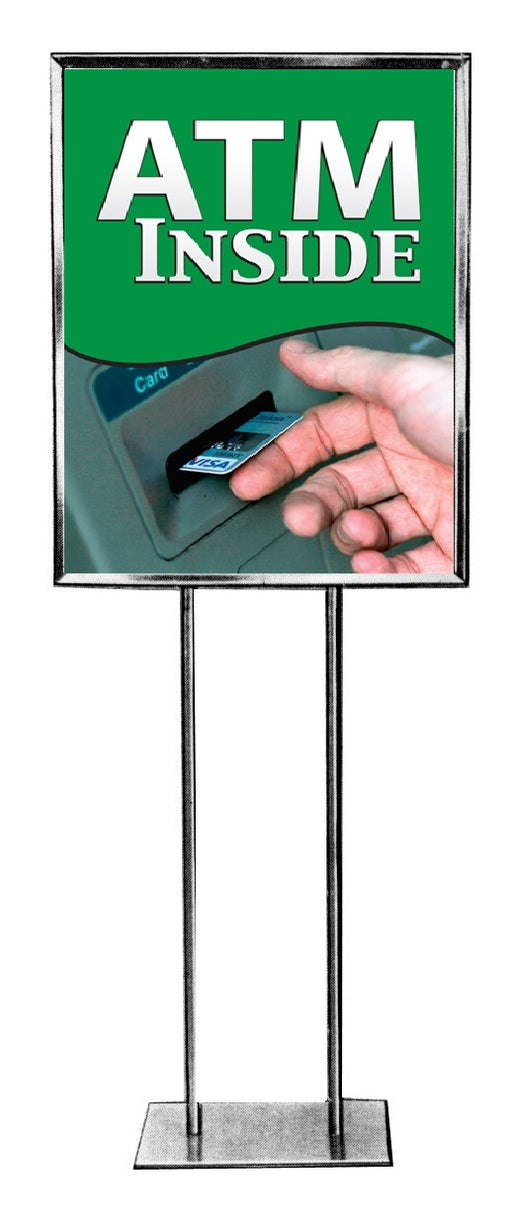 ATM Standard Poster Floor Stand Sign-22 W x 28 H
