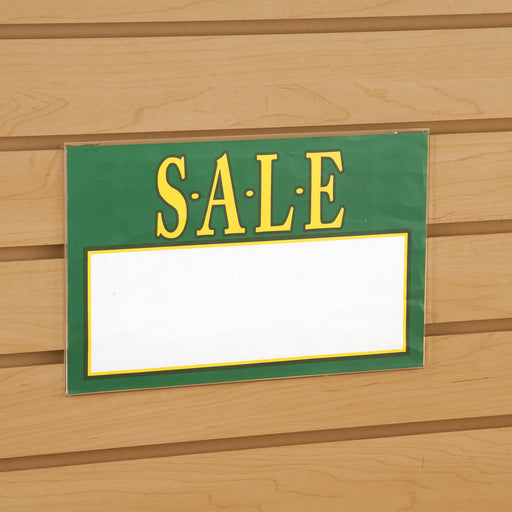 "Acrylic Sign Holders for Slatwall-11""W x 7""H-24 pieces"