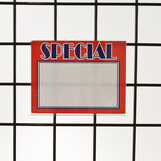 "Acrylic Sign Holders for Gridwall-7""W x 5-1/2""H-24 pieces"