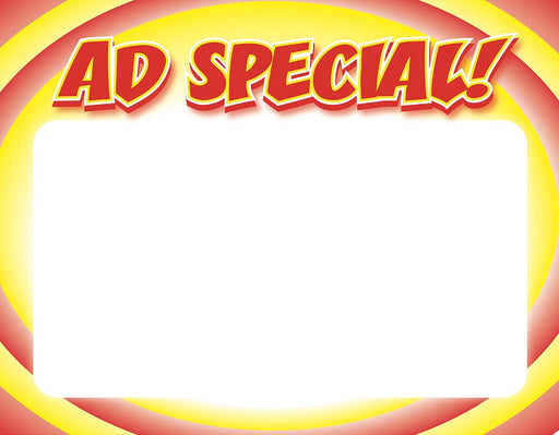 Ad Special Circle Shelf Signs Price Cards-Laser Compatible 100 signs