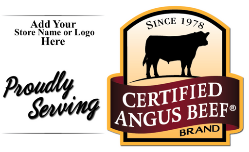 Certified Angus Beef Hanging Sign Ceiling Dangler