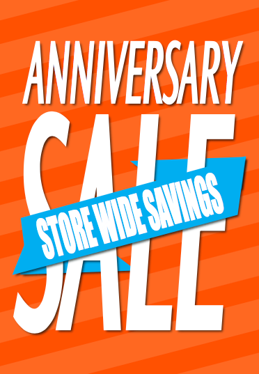 Anniversary Sale Easel Sign-Storewide Savings