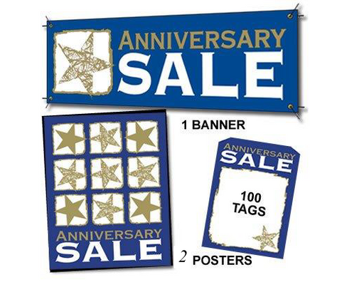 Anniversary Sale Sign Kit for Retail