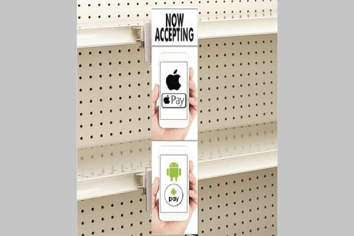 Apple Pay-Google Pay Aisle Violator Sign