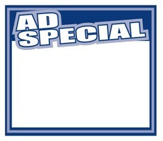 Ad Special Shelf Signs Price Cards-Blue Laser Compatible