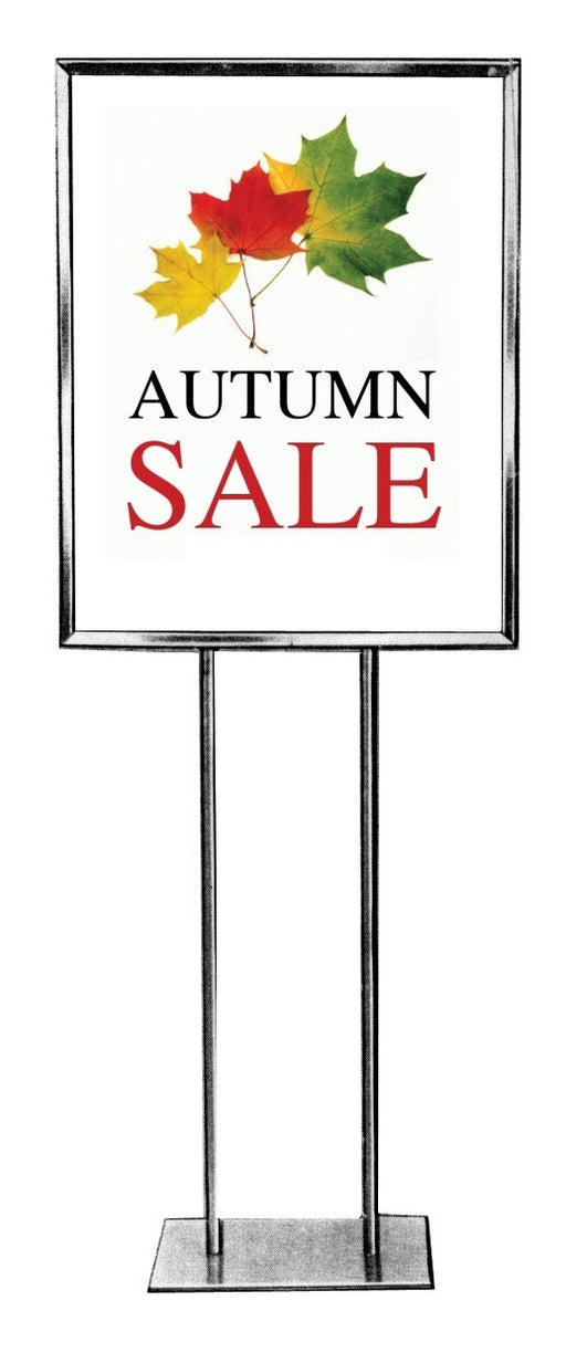 Autumn Sale Event Floor Stand Stanchion Sign Poster