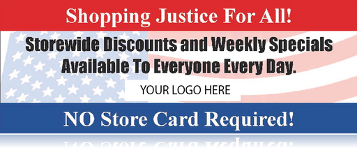 No Loyalty Card Required Banner-8'W x 3'H-Semi Custom