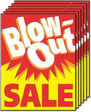 Blow-Out Sale-Retail Store Standard Posters-6 pieces