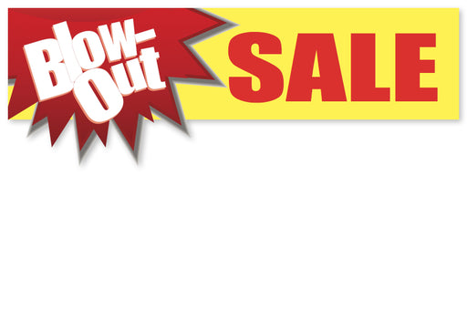 Blow Out Sale Shelf Signs-Retail Price Cards